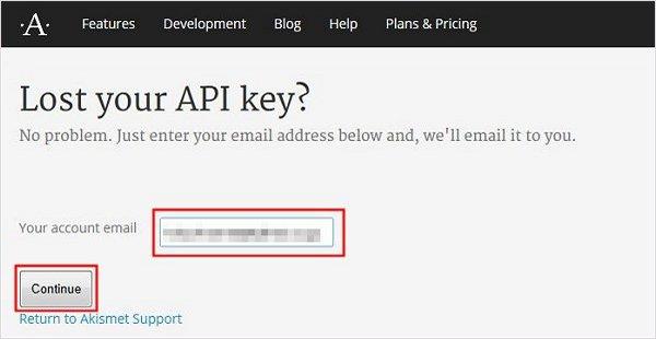 APIキーをメールで確認